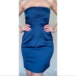 BCBGMaXAzria Navy Blue Strapless Cocktail dress